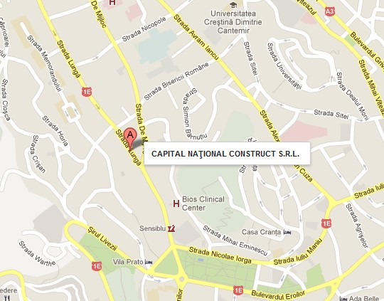 Localizare Capital National Construct Brasov