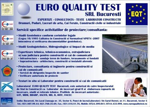 Studii geotehnice Euro Quality Test