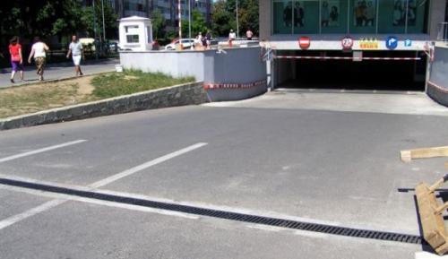 Mall Unirea Brasov - rigole trafic carosabil