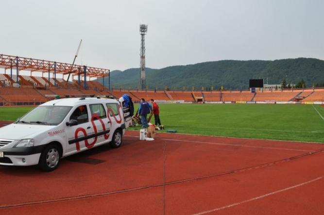 Instalatie incalzire gazon stadion Ceahlaul Piatra Neamt