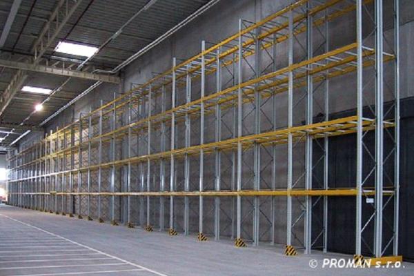 Rafturi metalice pentru paleti cu 4 nivele