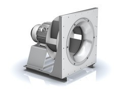 Ventilator centrifugal dubluaspirant cu motor EC si magneti permanenti.