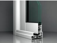 Profil aluminiu alb cu geam termopan